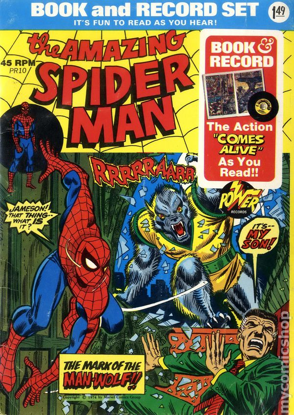 Spidey comic and record